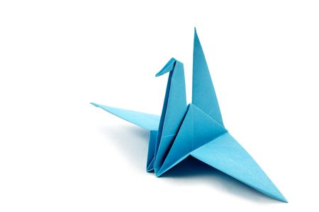 origami bird: Origame crane Stock Photo