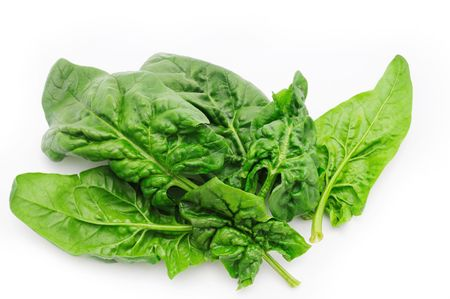 spinage: Fresh spinach leaves Stock Photo