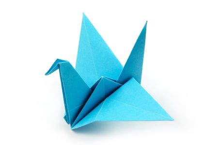Origame crane Stock Photo