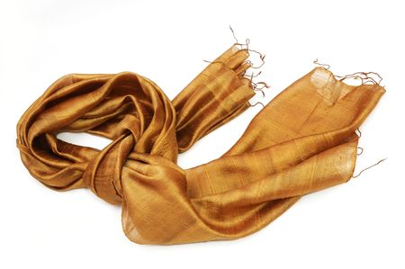 Gold scarf Stock Photo