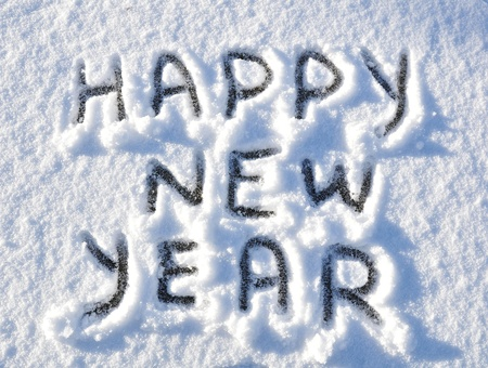 greeting season: Happy New Year Stock Photo