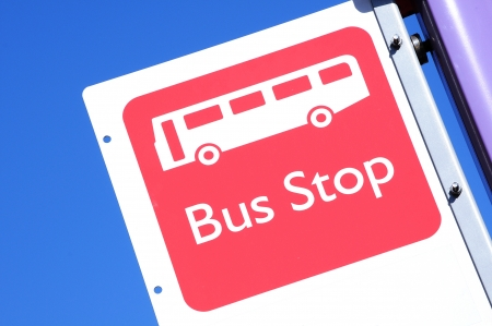 stop time: Bus stop sign