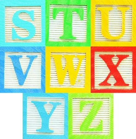yellow block: Letters (3) Stock Photo