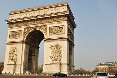 napoleon: The Arch de Triomphe in Paris, France  Stock Photo