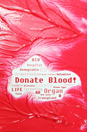 organ donation: Blood donation concept  Stock Photo