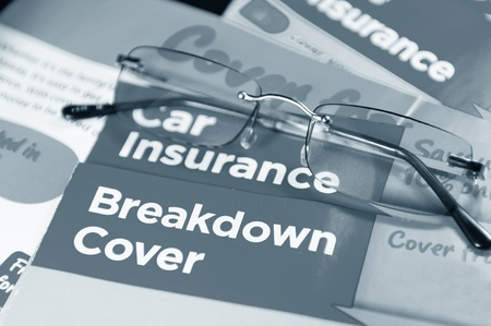 leaflets: Car insurance  Stock Photo