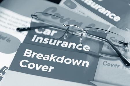 seguros: Del seguro de coche Foto de archivo