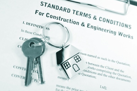 contractual: Construction agreement  Stock Photo