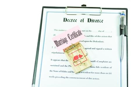 Divorce papers photo