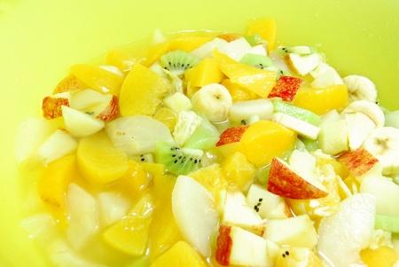 tinned: Fruit salad