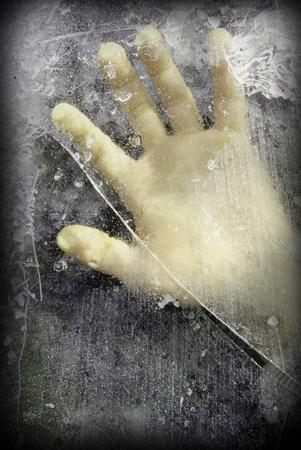 abuso: Ayuda Foto de archivo