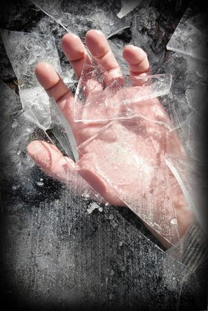 deep freeze: Ayuda Foto de archivo