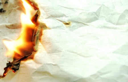 crumbled: Burning paper