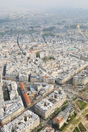 Aerial view of Paris photo