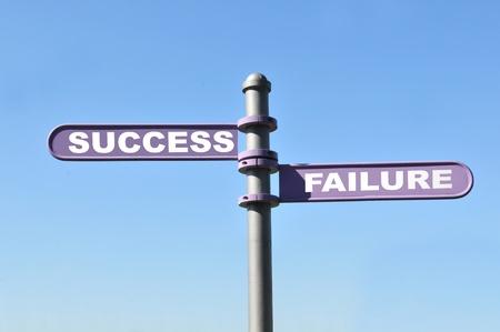failure sign: Success vs. failure