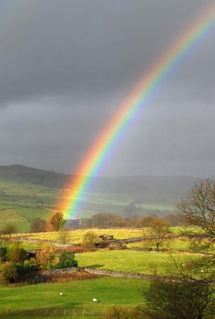 regenbogen: Rainbow landschap Stockfoto