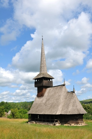 Wooden church in Transylvania, Romania photo
