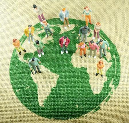 poblacion: Mundo concepto de poblaci�n