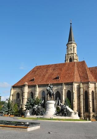 cluj: Gothic cathedral in Transylvania, Romania Stock Photo