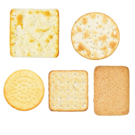crackers: Crackers isolated against white  Stock Photo