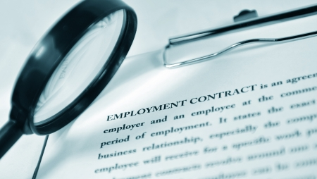 Employment contract Stock Photo - 10397978