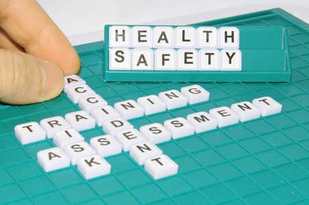 fire safety: Health and safety Stock Photo