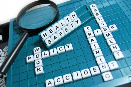 accidente trabajo: Salud y seguridad Foto de archivo