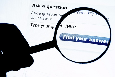 find answers: Web search engine Stock Photo