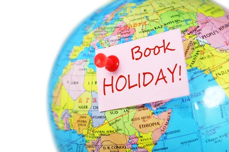 booked: Travel concept with world globe