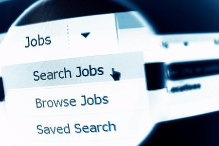 job search: Job search online concept