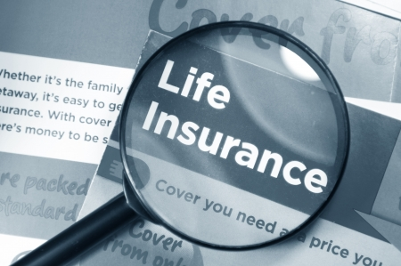 life and death: Life insurance concept