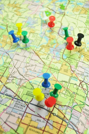 map pin: Marketing strategy Stock Photo