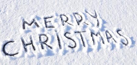 Merry Christmas written on snow