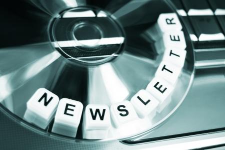 dvds: Newsletter Stock Photo