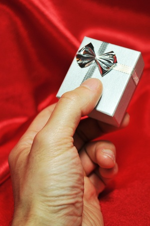 Offering a gift  photo