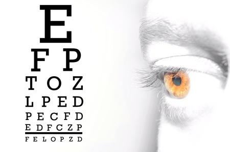 sight chart: Optician Stock Photo