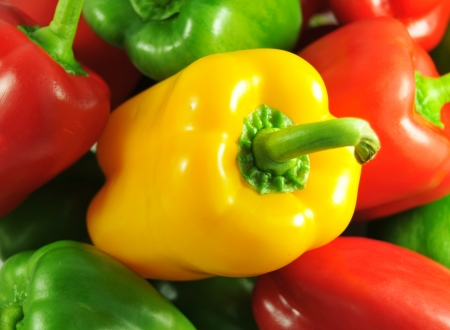 bell pepper: Fresh peppers Stock Photo