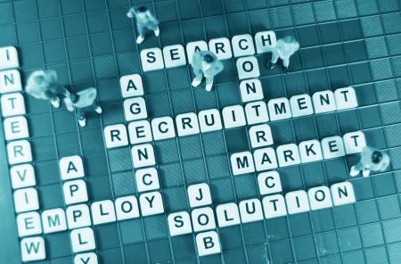 recruit: Job hunting Stock Photo
