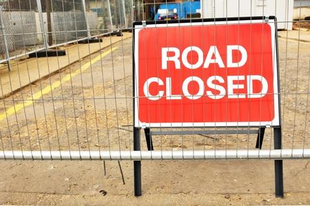 interdict: Road closed Stock Photo