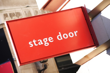 wayout: Stage door Stock Photo