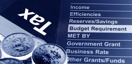 income tax: Tax concept  Stock Photo