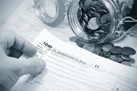 taxpayers: Tax concept  Stock Photo