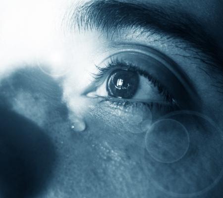 ojos llorando: Lágrimas
