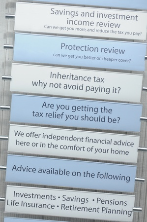 financial insurance: Tax financial advice