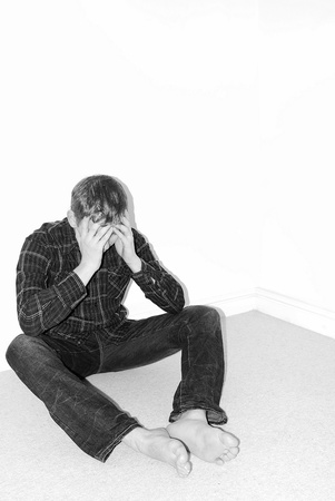 Depressed man  photo