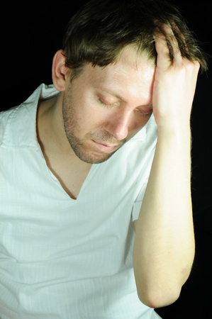 depressive: Pain Stock Photo