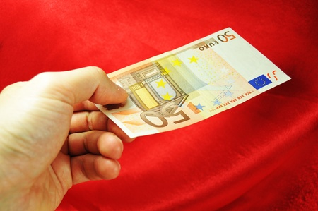 fifty euro banknote: Fifty euro banknote  Stock Photo