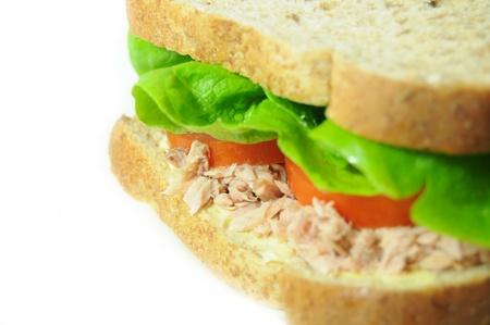 tuna mayo: Tuna sandwich detail  Stock Photo