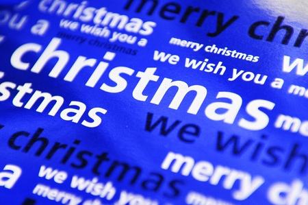 carols: Blue Christmas background  Stock Photo