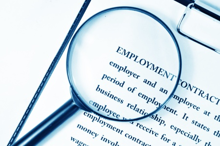 Employment contract Stock Photo - 10629496